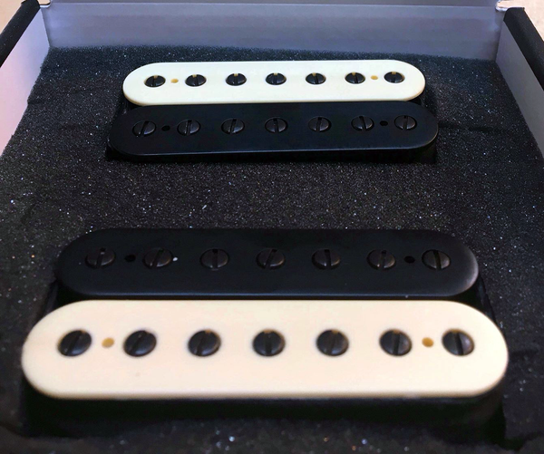 The Guitarmory.  Black And White Zebra Bobbin guitar pickups.