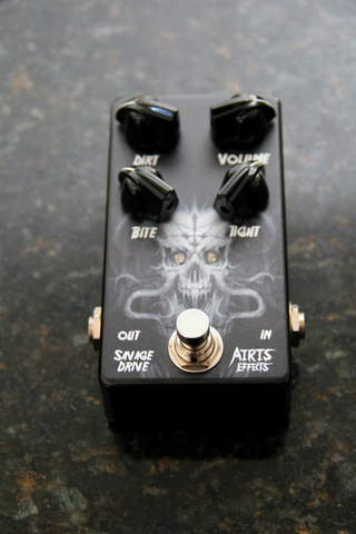Airis Effects:  Savage Overdrive V3: Top Jacks. High Quality Hand Made Boutique Effects Unit.