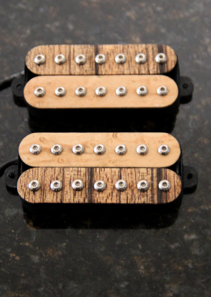 Atlas 7 Guitar Pickups. Maple, Black Limba Bobbins