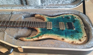 Custom Raptor 6 Neck Through Body: Agate Burst Poplar/Limba,  Ziricote Fretboard