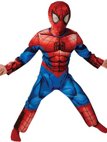 Spiderman Costume - Deluxe - Boys Costume