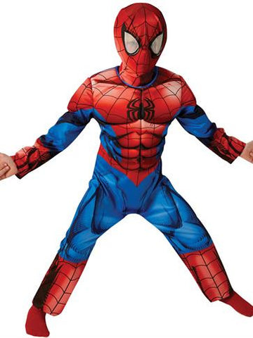 Spiderman Costume - Deluxe - Boys Costume  sc 1 st  Toys and Parties : spiderman childs costume  - Germanpascual.Com