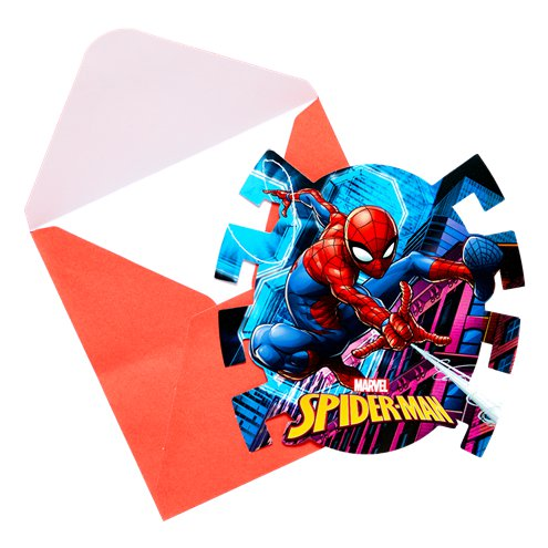 Invitations - Spiderman Party
