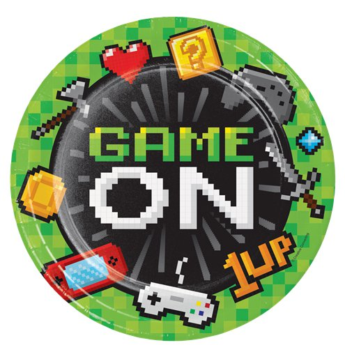 22cm Plates - Game On Party  Supplies