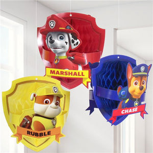 Honeycomb Hanging Decorations - Blue Paw Patrol Party