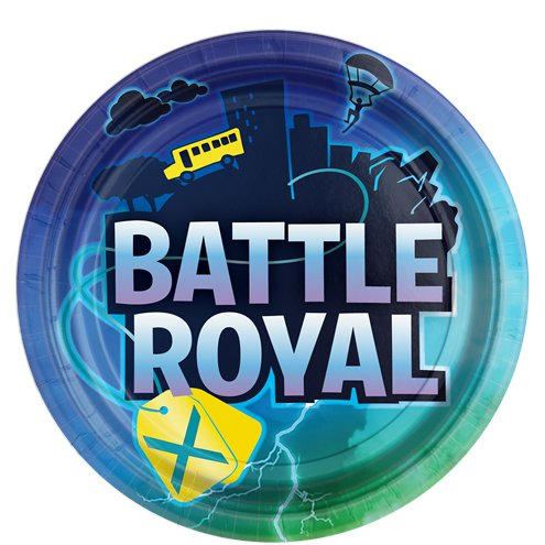 Battle Royal Paper Plates - 23cm - Fortnite Party
