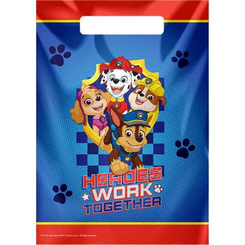 Loot Bags - Blue Paw Patrol Party