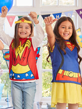 Load image into Gallery viewer, Wonder Woman T Shirt and Mask - Avengers Costume - Girls Costume