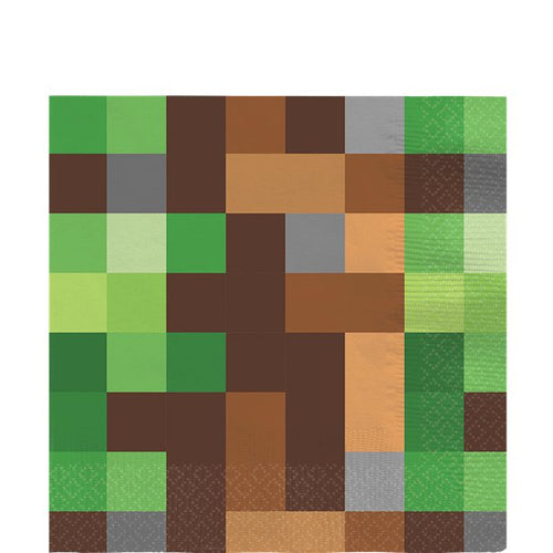 Minecraft Napkins - Minecraft Party Supplies