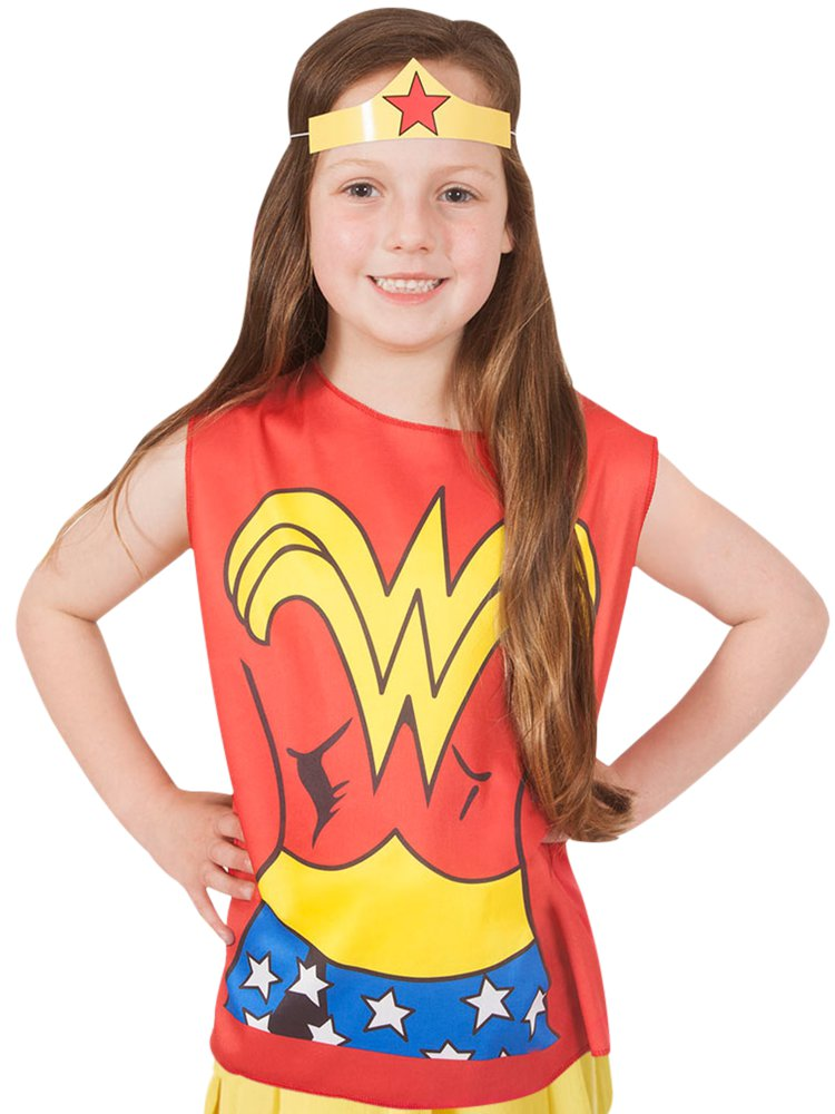 Wonder Woman T Shirt and Mask - Avengers Costume - Girls Costume