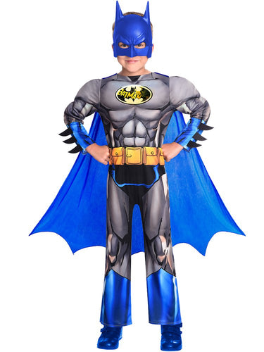Batman Brave & Bold Deluxe Muscle Chest Costume  - Boys Costume