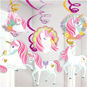 Hanging Swirls - Unicorn Party Supplies