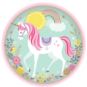 23cm Plates - Unicorn Party Supplies