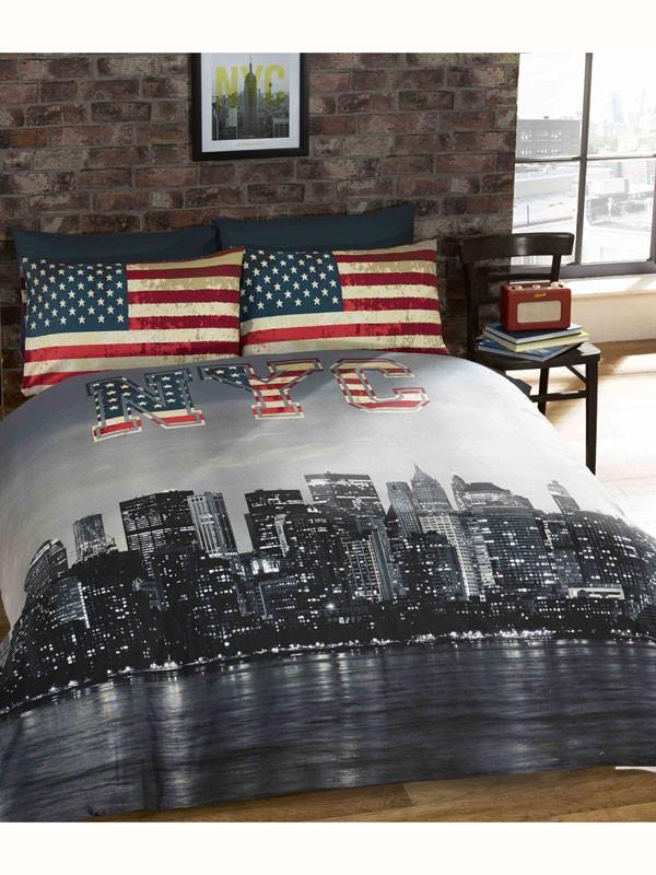 New York Skyline Duvet - USA  Bedding