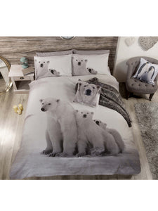 Polar Bear Duvet Set - Black and White