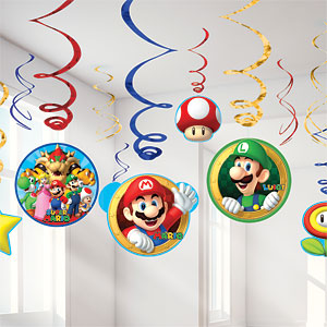 Hanging Swirls - Mario Brothers Party