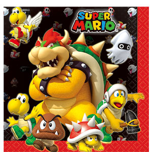 Napkins- Mario Brothers Party