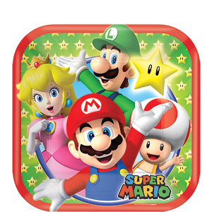 17cm Plates - Mario Brothers Party