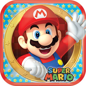 23cm Plates - Mario Brothers Party