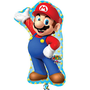 Supershape Foil Balloon - Mario Brothers Party