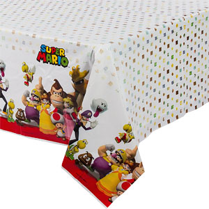 Table Cover - Mario Brothers Party