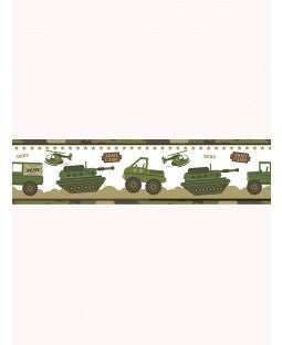 Army Camouflage Wall Border - Army Bedding