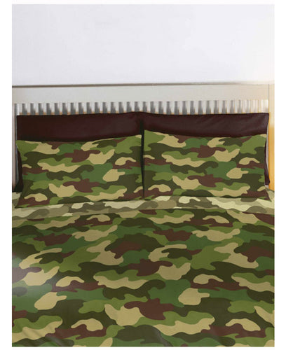 Army Camouflage Reversible Duvet Cover - Army Bedding