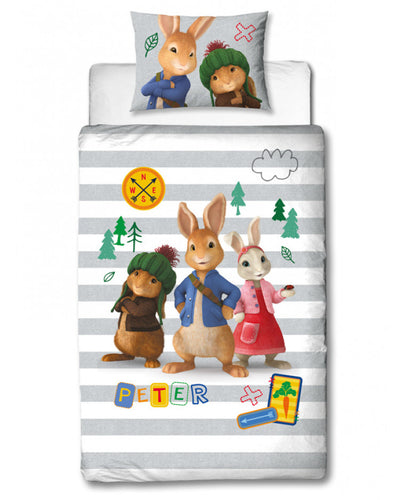 Peter Rabbit Forest Single Duvet Cover And Pillowcase Set - Peter Rabbit Bedding