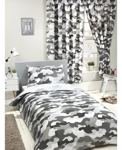 Grey Army Camouflage Reversible Duvet Cover - Army Bedding