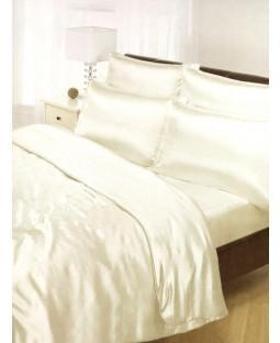Cream Satin Duvet Covet  PLUS Sheet Set - Satin Bedding