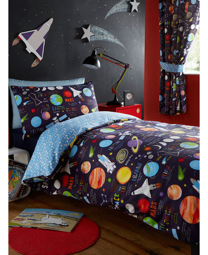 Planets Duvet Cover Set  - Space Bedding