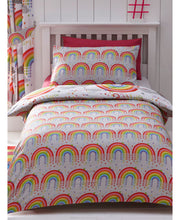 Load image into Gallery viewer, Clouds And Rainbows Duvet Cover Set - Clouds Bedding