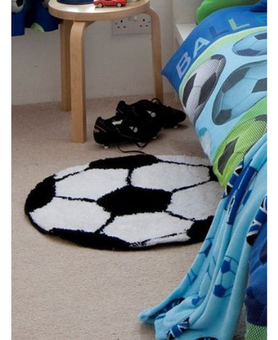 Catherine Lansfield It's A Goal Football Rug - Soccer / Football Bedding