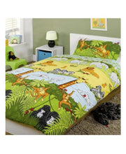 Load image into Gallery viewer, Jungle Animals Duvet Cover & Pillowcase Set - Kids Bedding