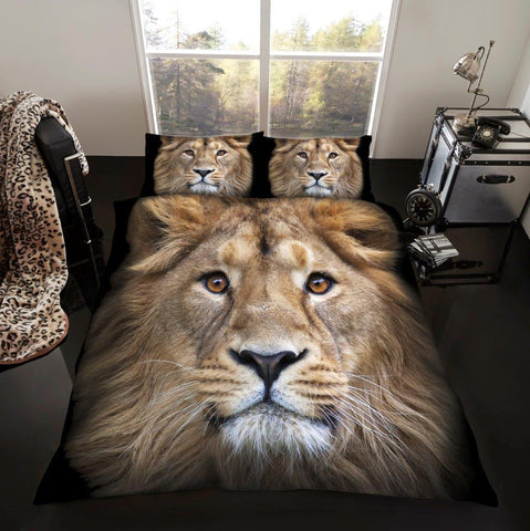 3D Lion Duvet - 3D Bedding