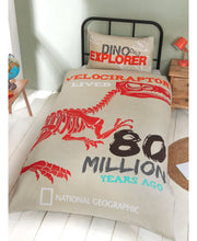 Load image into Gallery viewer, National Geographic Raptor Single Duvet Cover Set - Dinosaur Bedding