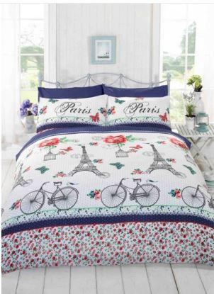 C'est La Vie Paris Duvet - RED - Paris Bedding