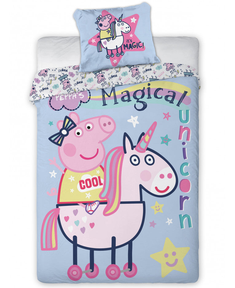 Peppa Pig Magical Unicorn Single Duvet Cover  -  Peppa Pig Bedding