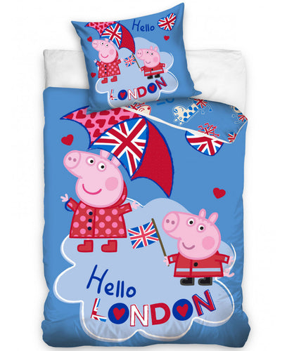 Peppa Pig London Single Duvet Cover Set  -  Peppa Pig Bedding