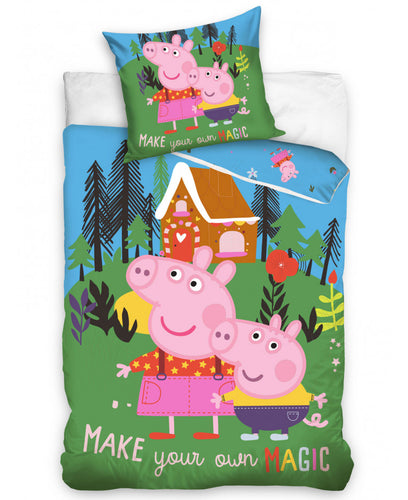 Peppa Pig Magic Single Duvet Cover Set  -  Peppa Pig Bedding
