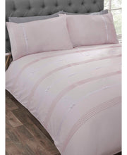 Load image into Gallery viewer, Clarissa Duvet Cover And Pillowcase Bed Set - BLUSH/PINK -  Ruffle Bedding