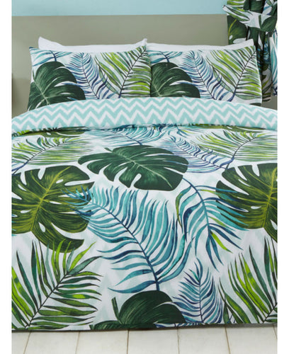 Tropical Palms Leaves Duvet Cover - Floral / Flowers Bedding