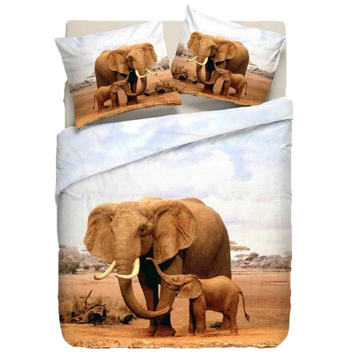 Baby Elephant Duvet - HD Printed Duvet / Animal Bedding