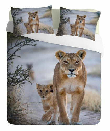 Lions in Jungle Duvet - HD Printed Duvet / Animal Bedding