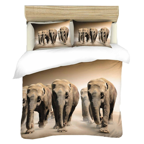 6 Elephants Duvet - HD Printed Duvet / Animal Bedding