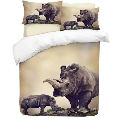 Rhino Duvet - HD Printed Duvet / Animal Bedding