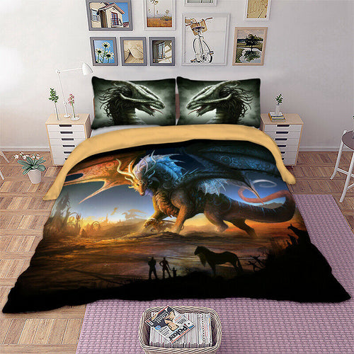 Colour Dragon - Dragon Bedding - HD Printed Duvet