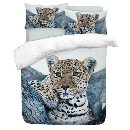Cheetah Duvet (Blue) - HD Printed Duvet / Animal Bedding
