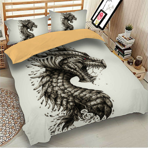 Dragon - Dragon Bedding - HD Printed Duvet