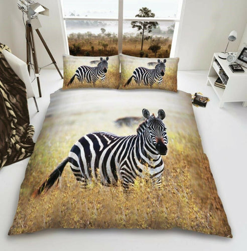 3D Zebra Duvet - Animal Bedding